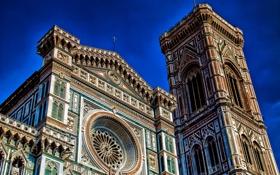 Картинка Италия, Флоренция, Санта-Мария-дель-Фьоре, Дуомо, кафедральный собор, кампанила Джотто