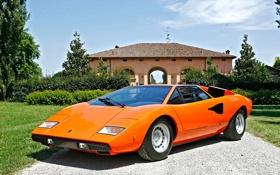 Обои Машина, Оранжевая, Desktop, Orange, Car, Автомобиль, Lamborgini