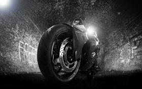 Обои тюнинг, колесо, BMW, БМВ, мотоцикл, фонарь, байк