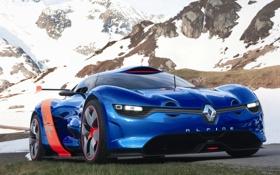 Обои машины, Concept, рено, Renault, горы, A110-50, Alpine