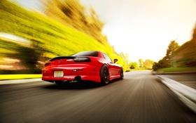 Обои скорость, размытость, red, Mazda, блик, красная, мазда