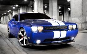 Обои машина, синий, додж