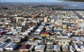 Картинка город, фото, горизонт, сверху, New Zealand, Southland