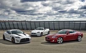 Обои небо, купе, Jaguar, кабриолет, передок, Convertible, XKR-S