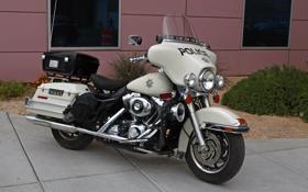 Картинка полиция, Калифорния, мотоцикл, США, Лос-Анджелес, американский, Harley-Davidson