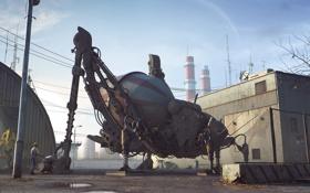Картинка робот, рабочий, установка, restricted area