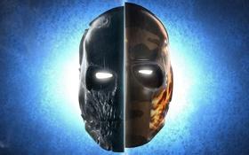 Обои череп, маски, army of two, прорези, для глаз
