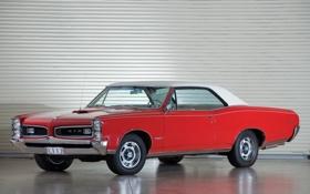 Обои красный, ретро, купе, red, мускул кар, классика, muscle car