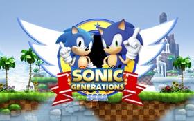 Обои logo, sega, sonic, Sonic Generations, videogame