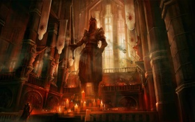 Картинка свечи, храм, алтарь, Dragon Age, altar, chantry