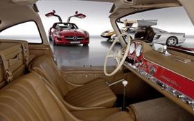 Обои машина, авто, ретро, обои, двери, wallpaper, mercedes