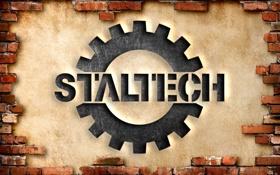 Обои стена, кирпич, метал, штукатурка, сталтех, вырезано, staltech