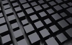 Обои кубы, ряды