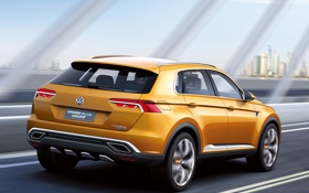 Обои car, Concept, Volkswagen, road, wallpapers, CrossBlue