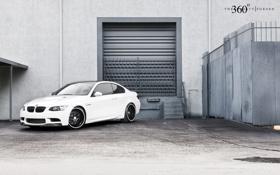 Обои белый, бмв, BMW, white, E92, передняя часть, 360 three sixty forged