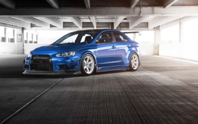 Обои Mitsubishi, Lancer, Evolution, Driven Media, Johan Lee