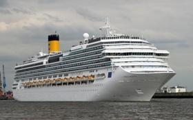 Картинка фото, корабль, Costa Pacifica, круизный лайнер