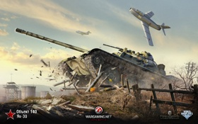 Обои самолет, aviation, авиа, WoT, Мир танков, World of Tanks, MMO