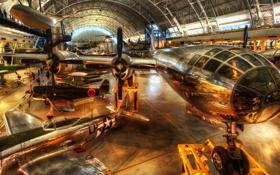 Обои музей, истребитель, ангар, пропеллер, hdr, самолет