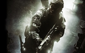 Картинка мужик, солдат, нож, автомат, Call of Duty, Black Ops