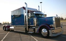 Обои тягач, peterbilt, какбина, автомобили, trucks, грузовик