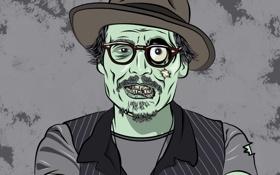 Обои зомби, johnny depp, джонни депп, walking dead, ходячий мертвец