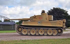 Обои танк, Tiger, бронетехника, немецкий, тяжёлый, Pz.Kpfw.VI