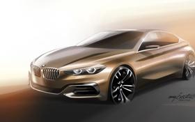 Обои Concept, бмв, BMW, Sedan, 1-Series