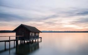 Обои пейзаж, мост, озеро
