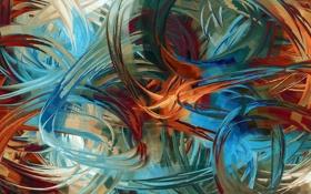 Картинка цвета, линии, синий