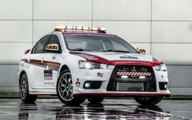 Обои мицубиси, Safety Car, Lancer, лансер, Mitsubishi, Evolution
