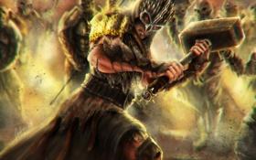 Картинка взгляд, игра, арт, Shao Kahn, Mortal Combat