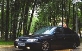 Обои ВАЗ, авто, машина, auto, пасмурно, Lada, 2112