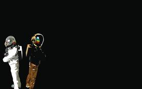 Обои цвета, музыка, фон, шлем, Daft Punk