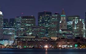 Обои город, ночь, панорама, огни