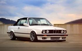 Картинка белый, бмв, BMW, white, кабриолет, e30, 3 серия