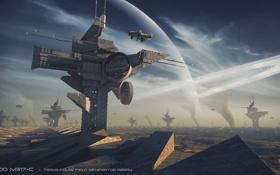 Картинка колония, сооружения, планета, база, space