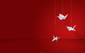 Обои бумага, оригами, журавлик
