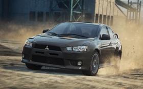 Обои Most Wanted, 2012, Mitsubishi Lancer Evolution X, Need for speed