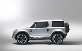 Обои серый, профиль, Land Rover, диски, defender, dc100