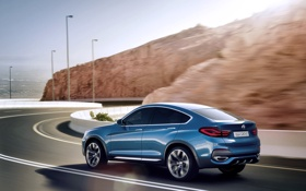 Картинка Concept, Авто, Дорога, Синий, BMW, Машина, Свет