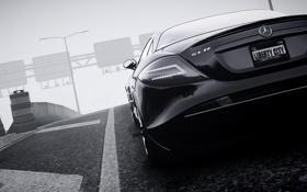 Картинка машина, туман, GTA 4, Mersedes SLR