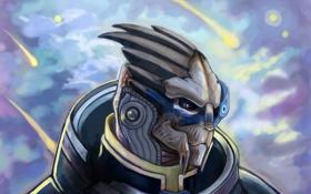 Обои фантастика, арт, Mass Effect, garrus vakarian, turian