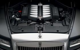 Обои royce, двигатель, ghost, v12, rolls