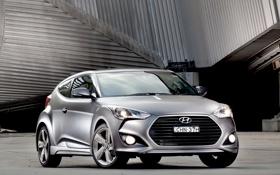Картинка авто, обои, Hyundai, передок, Turbo, Veloster