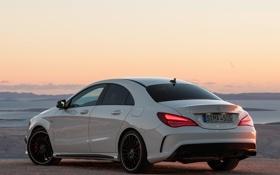 Картинка белый, Mercedes-Benz, автомобиль, AMG, задок, задние огни, CLA