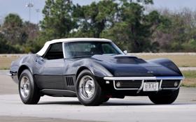 Обои Corvette, Chevrolet, 1969, Шевроле, передок, 427, Convertible