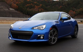Обои wallpaper, субару, авто, Subaru brz, car, subaru, синий