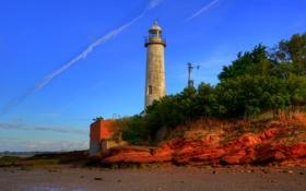 Обои англия, hale, маяк, побережье