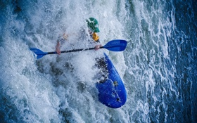 Обои вода, спорт, лодка
